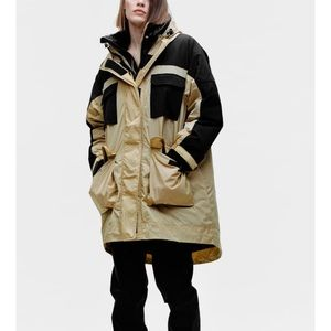 Zara water repellent limited edition puffer jacket